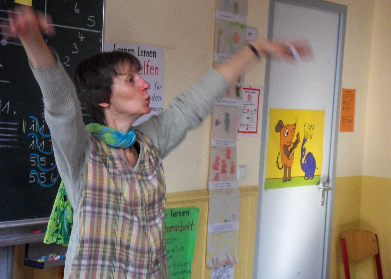 Christine Modersohn in der Klasse